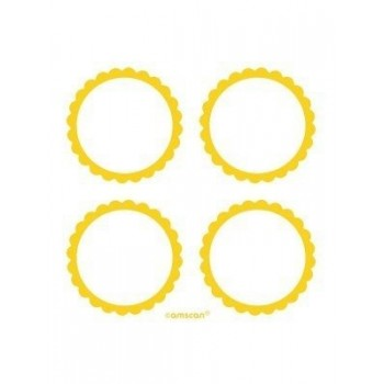 Stickers autocollants jaune en Suisse