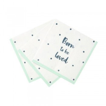 Serviettes baby shower born to be LOVED