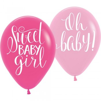 BALLONS FLORALES BABY GIRL