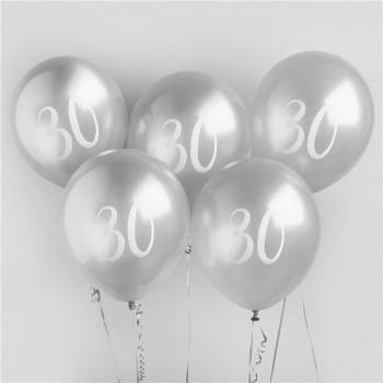 BALLONS 30 ANS ARGENTES EN SUISSE