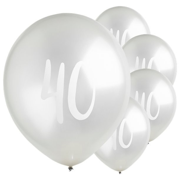 ballons en latex argent anniversaire 4o ans en suisse