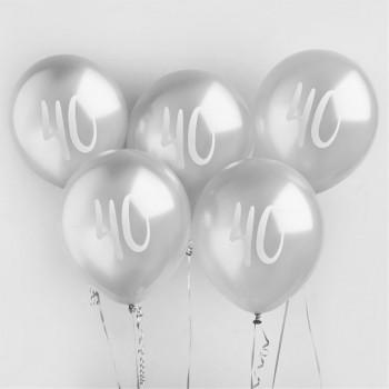 Ballons 40 ans couleur argent en suisse