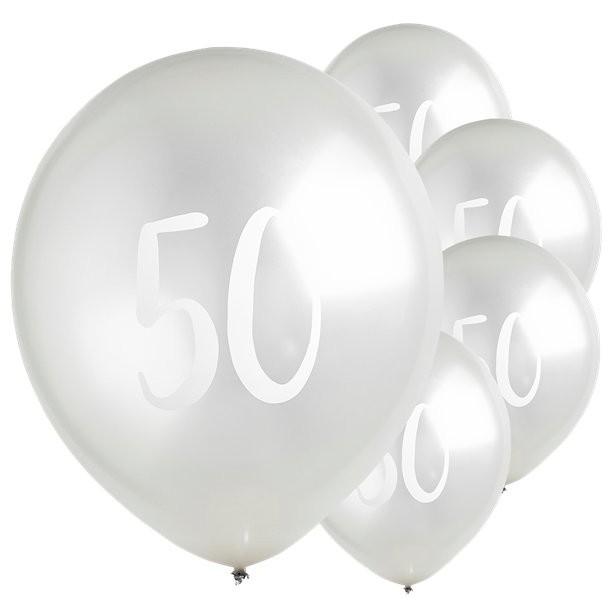 ballons latex argentes 50 eme anniversaire ne suisse