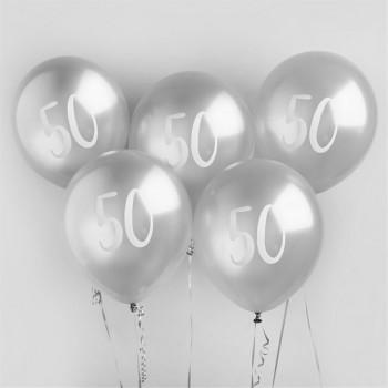 ballons 50 ans anniversaire argentes en suisse