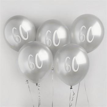 ballons argentes 60 ans anniversaire en suisse