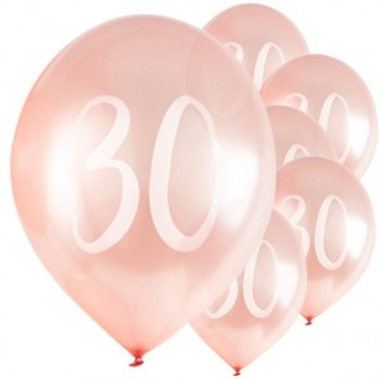 BALLONS ROSE GOLD ANNIVERSAIRE 30 ANS