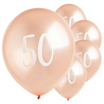 ballons rose gold 50 eme anniversaire en suisse
