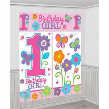 Décoration murale 1er anniversaire fille