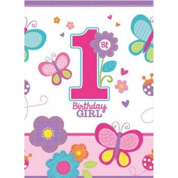 Nappe de table 1er anniversaire fille