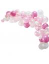 arche de ballon rose clair et rose vif