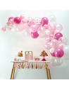 kit arche de ballons rose