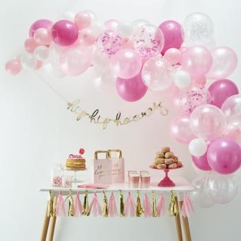 arc de ballons rose en suisse pas cher