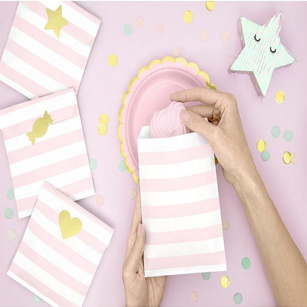 sacs a papier rose pour baby shower en suisse