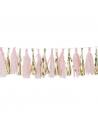guirlande pompons rose baby shower rose