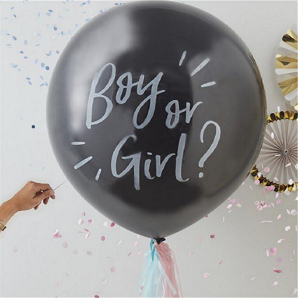 Ballon révélation sexe bébé baby shower