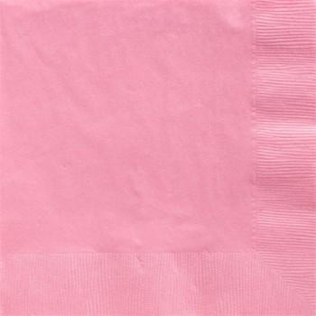 Serviettes à boisson rose clair 25 cm