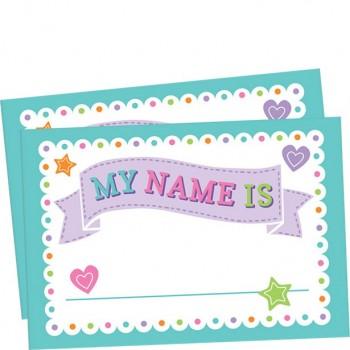 Accessoires étiquettes de nom douche de bébé