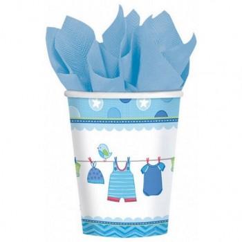Gobelets baby shower bleu fête prénatale garçon