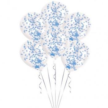 Ballons à confettis bleu décoration de fête en Suisse
