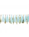 guirlande pompons bleu baby shower