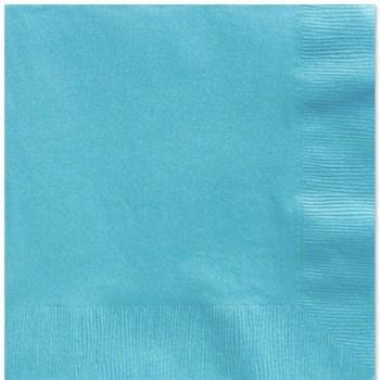 Serviettes bleu turquoise déco de table bleu