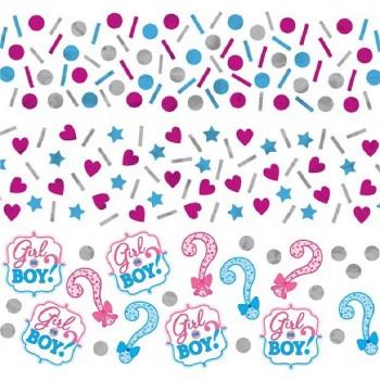 Confettis douche de bébé révélation surprise