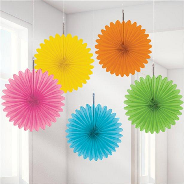 éventails colores en papier décoration de fête