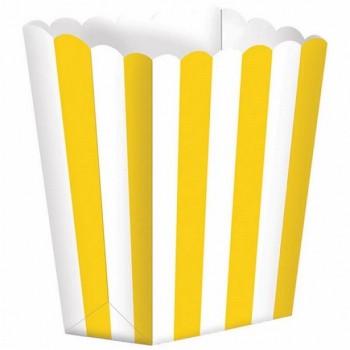 boite pop-corn rayures jaune