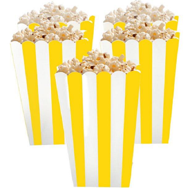 Boite a pop corn jaune