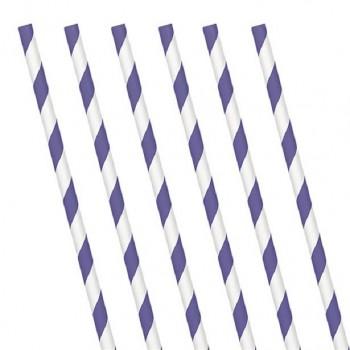 pailles a rayures violettes