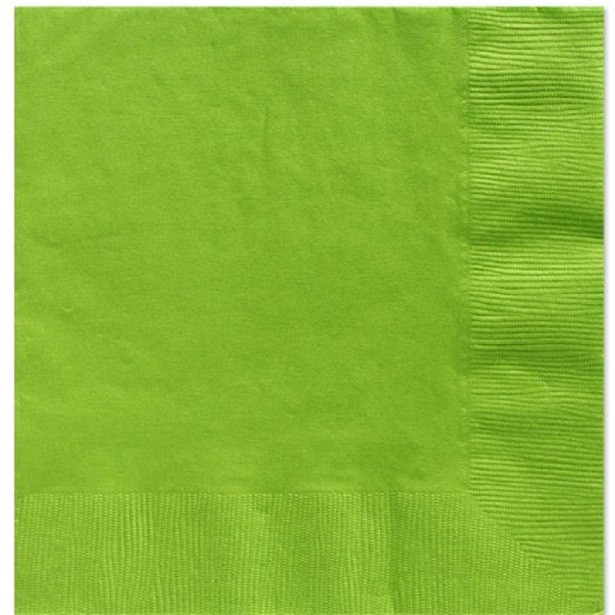serviettes vert lime