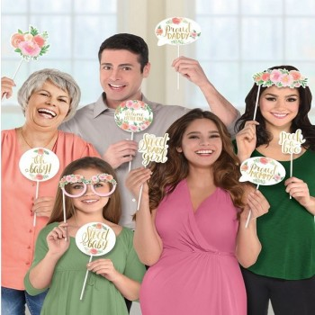 Accessoires photobooth florales baby shower fille 1er anniversaire fille