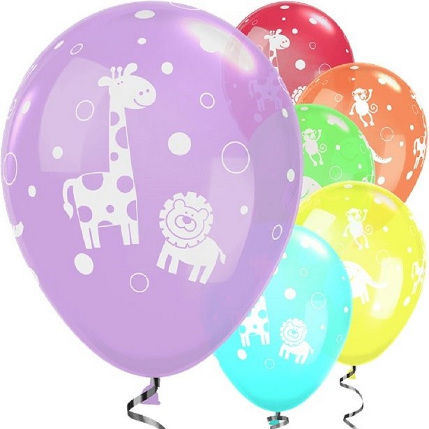 Ballons animaux de la jungle anniversaire
