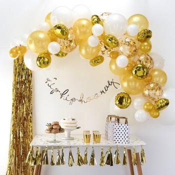 arche de ballons or dorée pas cher