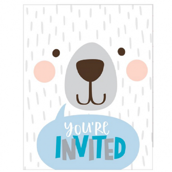 invitations baby shower ourson