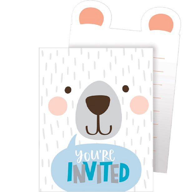 invitations anniversaire ou baby shower petit ours