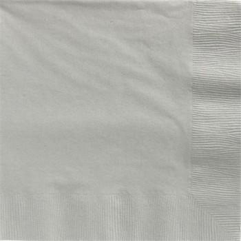 serviettes en papier argent 33 cm