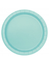 assiettes vert menthe 22 cm