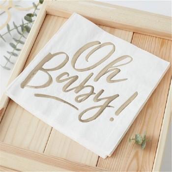 Serviettes pour douche de bébé et fête prénatale