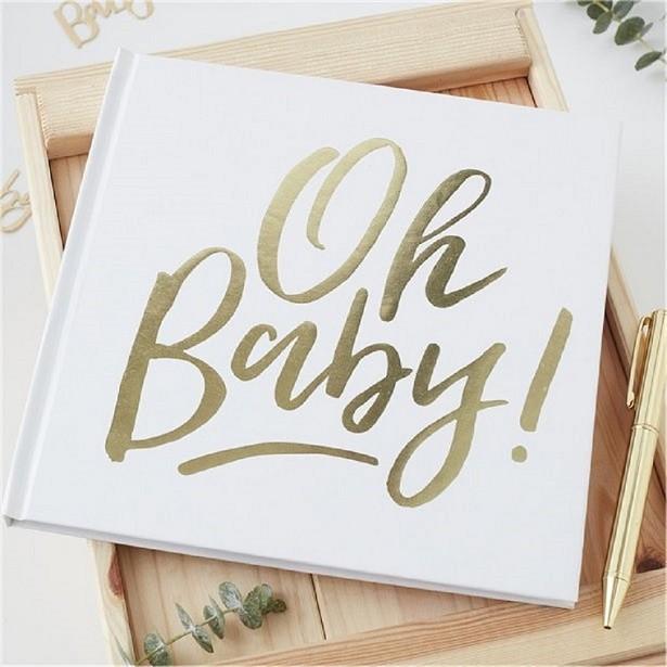 Livre d'or baby shower et douche de bébé