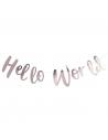 guirlande rose gold hello world en Suisse