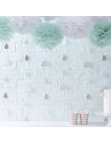 Toile de fond hello world baby shower