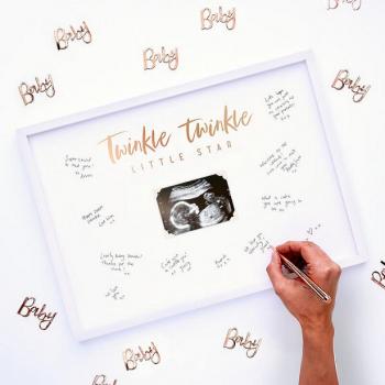 Livre d'or signature pour baby shower