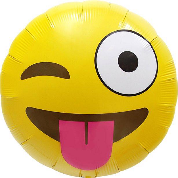 Ballon Anniversaire Emoji Clin d'oeil