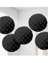 Lanternes a pois noir en papier
