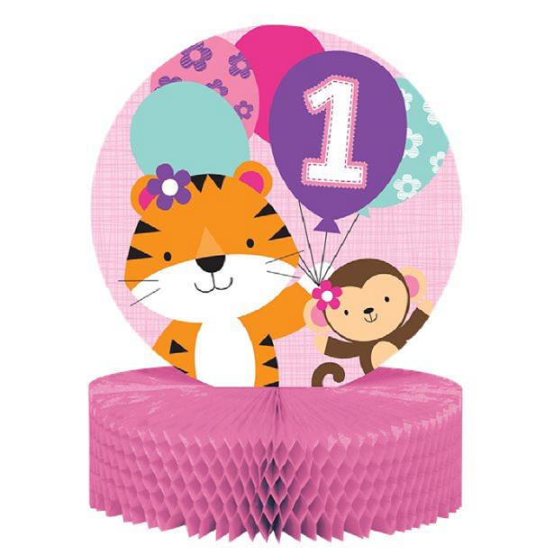 centre de table 1er anniversaire fille