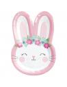 assiettes en forme de tête de lapin anniversaire fille lapinou