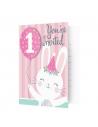 Invitations 1er anniversaire lapinou