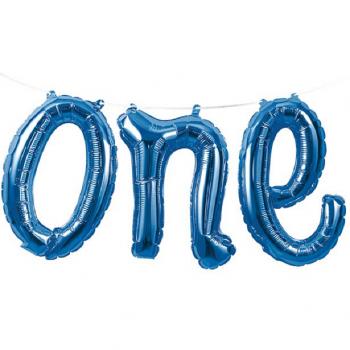ballon bleu one numéro 1 anniversaire garçon