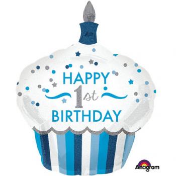 ballon géant en forme de gâteau 1er anniversaire
